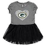 Girls Toddler Green/White Green Bay Packers Celebration Tutu Dress