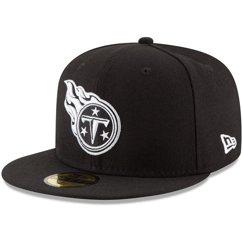 Men's New Era Black Tennessee Titans B-Dub 59FIFTY Fitted Hat