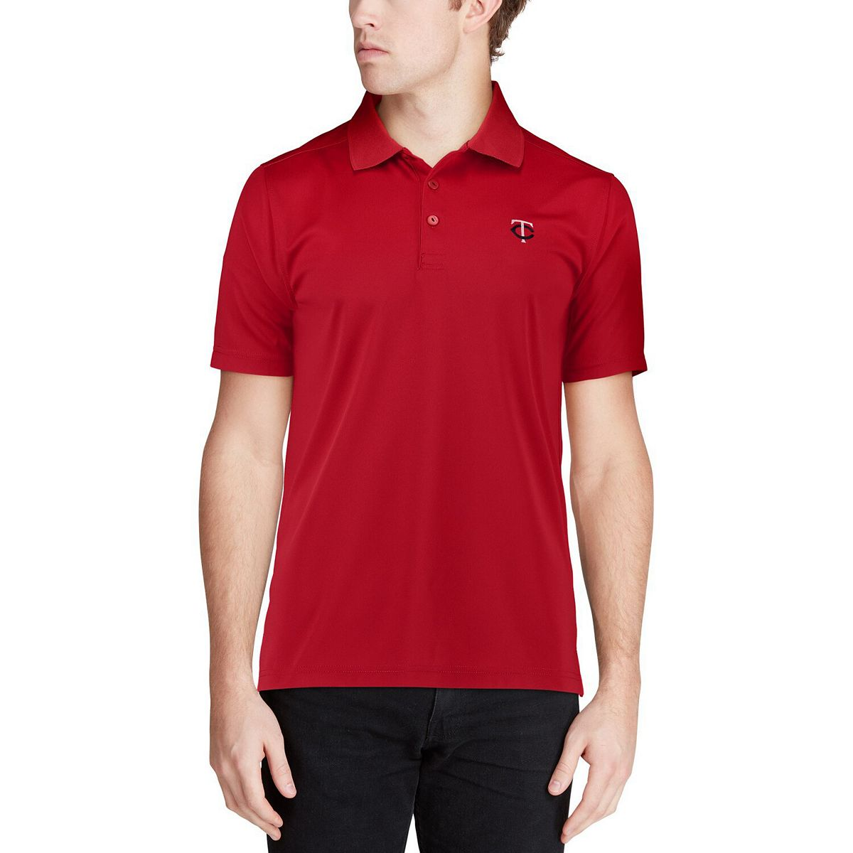 Men's CBUK by Cutter & Buck Red Minnesota Twins DryTec Fairwood Polo 77puY