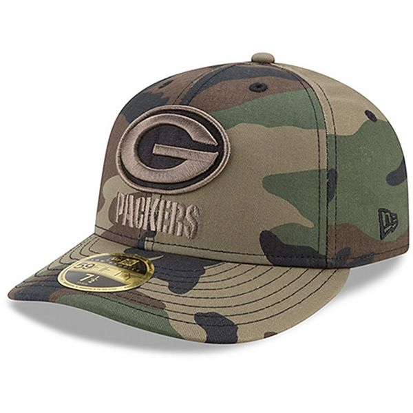 Men S New Era Green Bay Packers Woodland Camo Low Profile 59fifty Fitted Hat