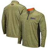 Men's Colosseum Green Florida Gators Swamp Skin Quarter-Zip Pullover Jacket