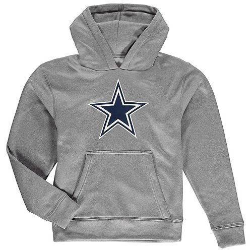 promo code 8b2be 080e4 Youth Gray Dallas Cowboys Premier Logo Pullover Hoodie