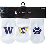Newborn & Infant White Washington Huskies Three-Pack Booties
