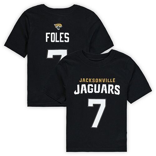 the latest a2c21 a75e3 Nick Foles Jacksonville Jaguars Preschool Mainliner Name & Number T-Shirt -  Black
