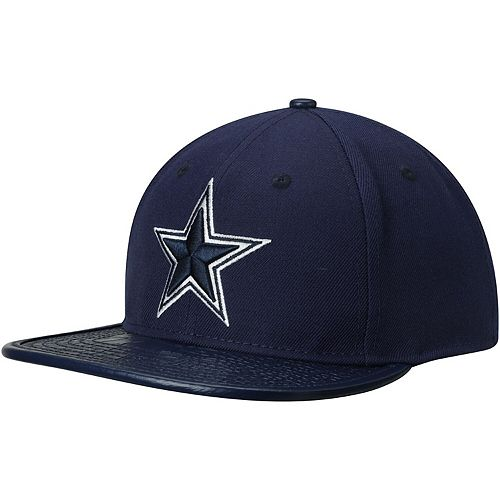 COWBOYS NFL Dallas Basic Wool White Navy Blue Strapback Cap Adult Men Hat
