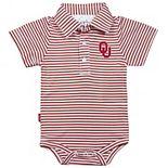 Infant Garb Crimson/White Oklahoma Sooners Carson Striped Short Sleeve Bodysuit