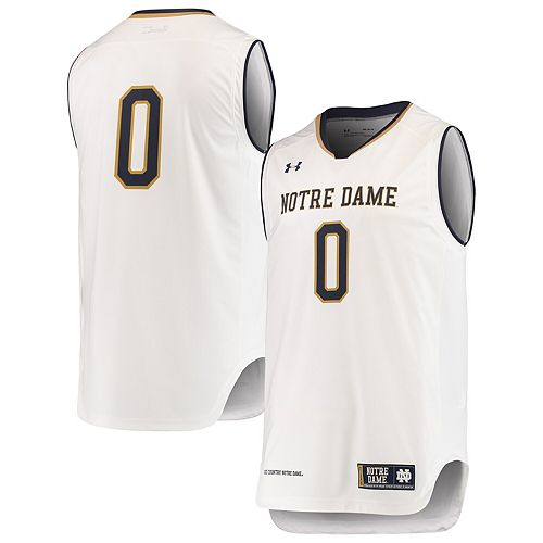 watch a4e95 1ae28 Men's Under Armour White #0 Notre Dame Fighting Irish ...