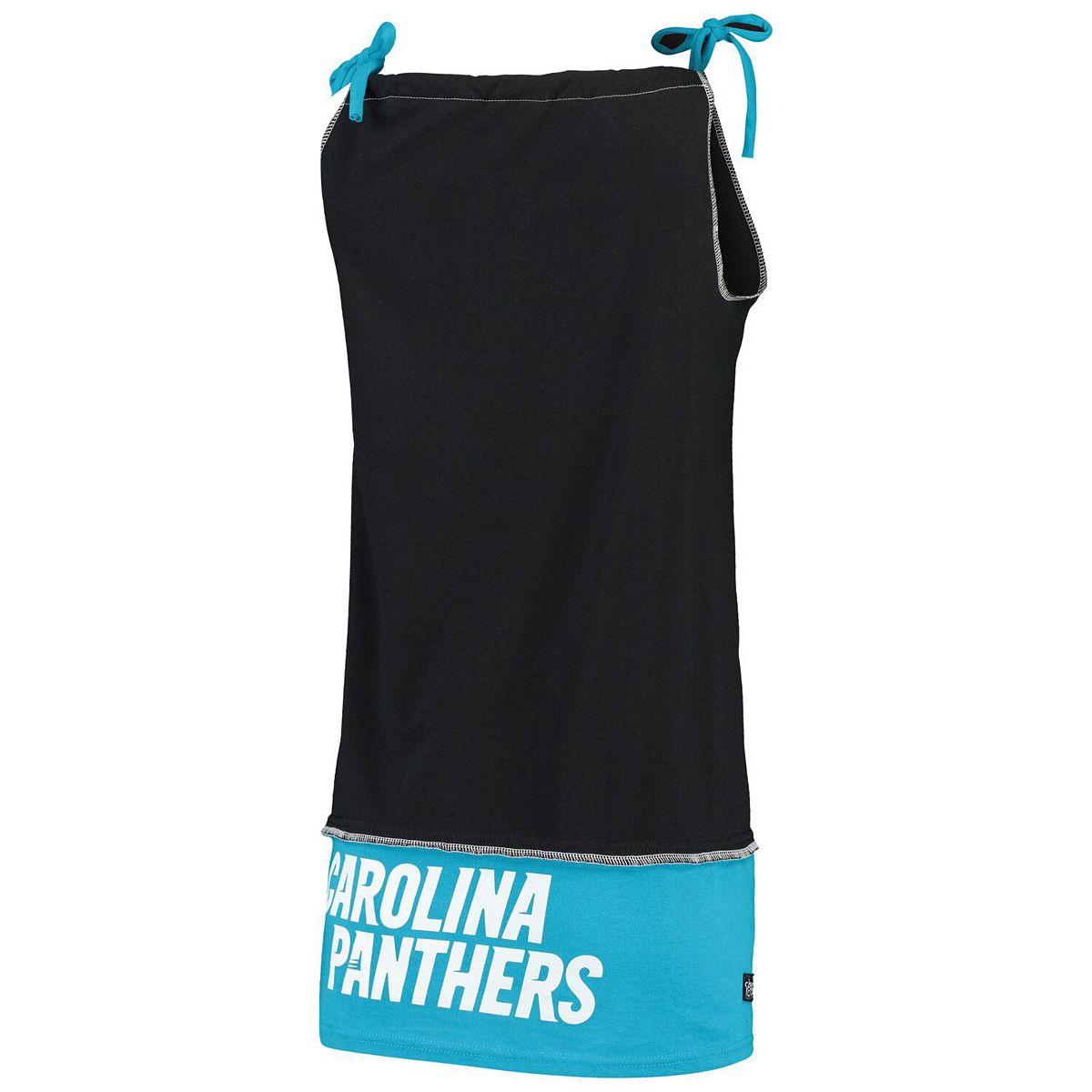 Women's Refried Tees Black Carolina Panthers Vintage Tank Dress Bqaje