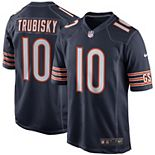 Men's Nike Mitchell Trubisky Navy Chicago Bears Game Jersey