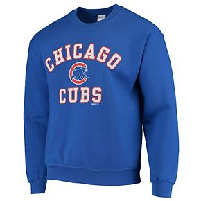 Men's Stitches Royal Chicago Cubs Fleece Crew Neck Sweatshirt