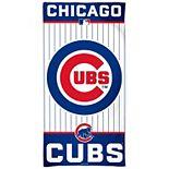 "WinCraft Chicago Cubs 30"" x 60"" Striped Logo Beach Towel"