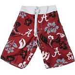Youth Wes & Willy Crimson Alabama Crimson Tide Swim Trunks