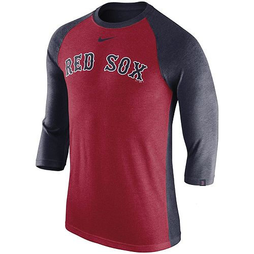 buy online a7a0e 0c880 Men's Nike Red Boston Red Sox 3/4-Sleeve Raglan T-Shirt