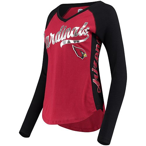 Women's Hands High Cardinal Arizona Cardinals Stadium Long Sleeve T-Shirt