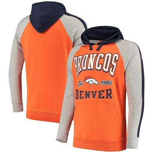 sale retailer 330e0 fe03d Men's Hands High Orange/Navy Denver Broncos Lifestyle Closer Pullover Hoodie