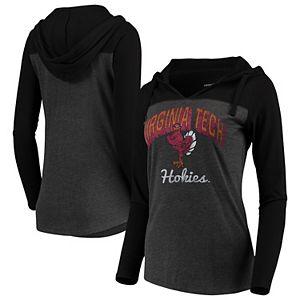 Colosseum Youth Virginia Tech Hokies Quarter Zip Hooded Windshirt