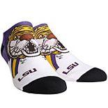 Women's LSU Tigers Mascot Low Ankle Socks