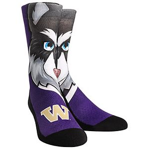 Women's Washington Huskies Mascot Crew Socks