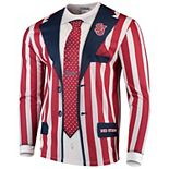 Men's Faux Real Apparel Multi St. Johns Red Storm Faux Suit Long Sleeve T-Shirt