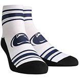Men's White Penn State Nittany Lions Classic Stripes Quarter-Length Socks