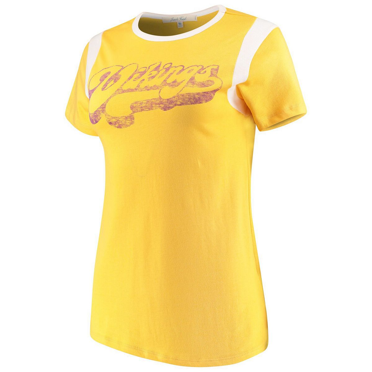 Women's Junk Food Gold/White Minnesota Vikings Retro Sport T-Shirt 454GS
