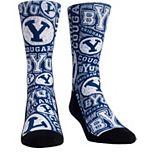 Women's Navy BYU Cougars Logo Sketch Crew Socks