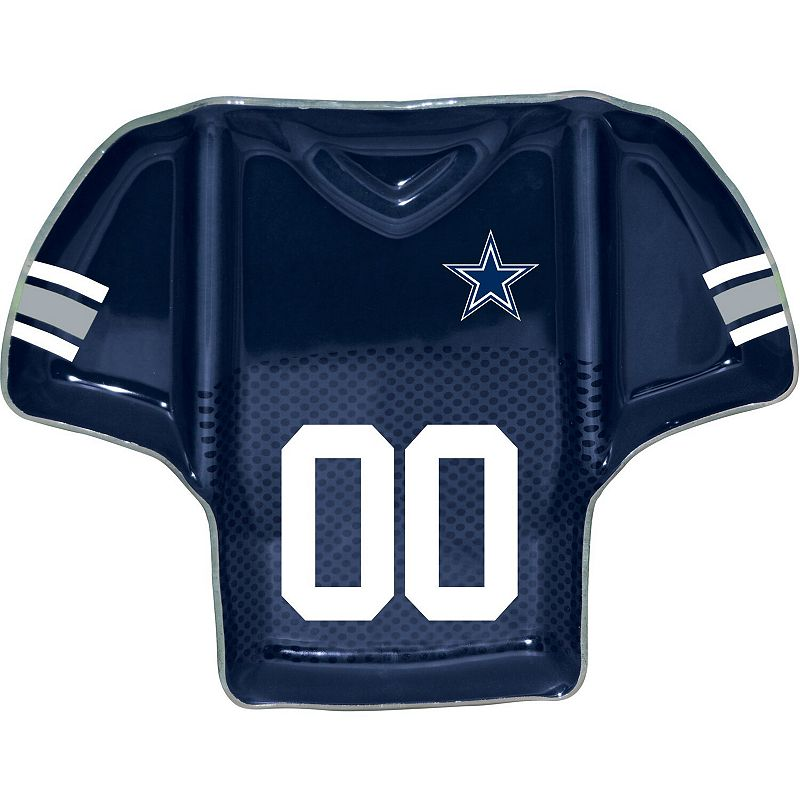 Dallas Cowboys Glass Jersey Chip And Dip