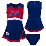 Girls Toddler Royal/Red New York Giants Cheer Captain Jumper Dress