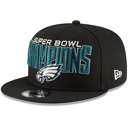 new concept a98a7 ff3cd Men's New Era Black Philadelphia Eagles Super Bowl LII Champions 9FIFTY  Adjustable Snapback Hat