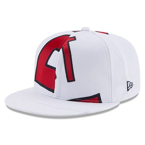 watch f2d46 f9ca4 Men's New Era Mike Trout White Los Angeles Angels Player ...