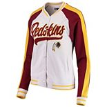 Women's New Era White/Burgundy Washington Redskins Varsity Full Snap Jacket