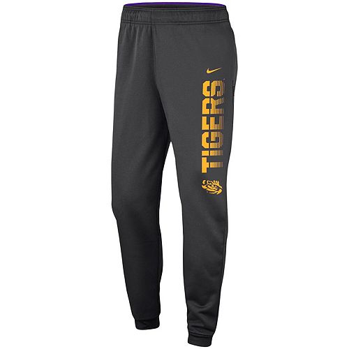 Men's Nike Anthracite LSU Tigers 2019 Sideline Therma