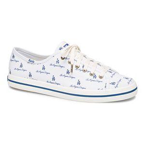 Women's Keds White Los Angeles Dodgers Kickstart Repeat Logo Sneakers