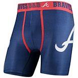 Men's Concepts Sport Navy Atlanta Braves #1 Dad Boxer Briefs