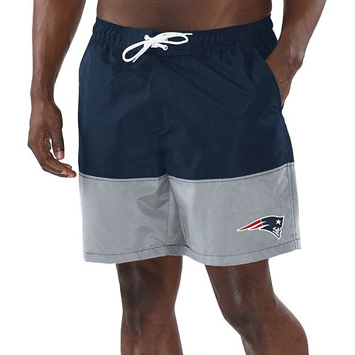 Men's G-III Sports by Carl Banks Navy/Gray New England Patriots Anchor Volley Swim Trunks