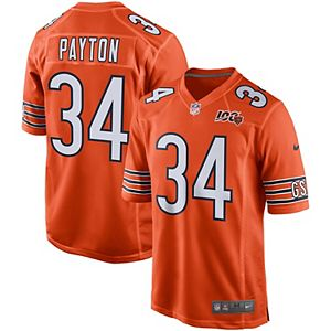 new arrival 9bf70 cfd55 Men's Nike Walter Payton Navy Chicago Bears 100th Season Retired Game Jersey