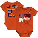 Newborn & Infant Majestic Jose Altuve Orange Houston Astros Baby Slugger Name & Number Bodysuit
