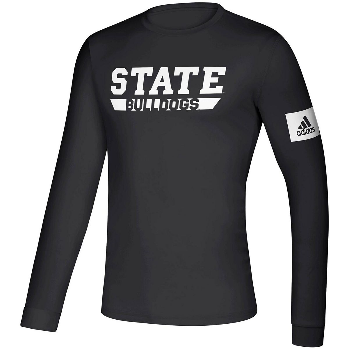 Men's adidas Black Mississippi State Bulldogs 2019 Sideline Practice Creator climalite Long Sleeve T-Shirt 0qHIG