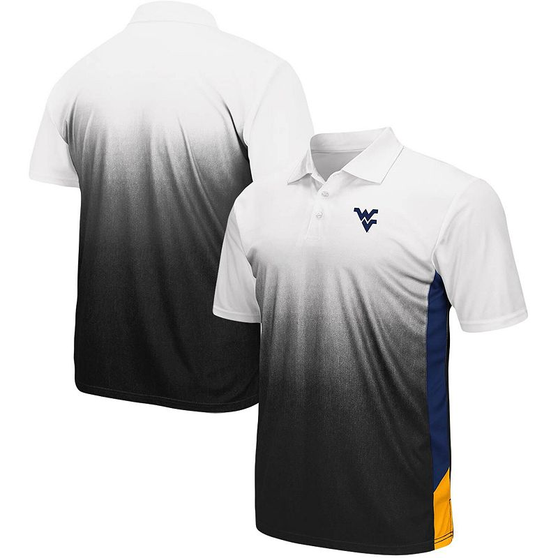 Men's Colosseum Gray West Virginia Mountaineers Magic II Polo, Size: Large, Grey