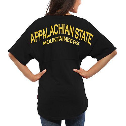 quality design c07d0 70ce7 Women's Black Appalachian State Mountaineers Spirit Jersey ...