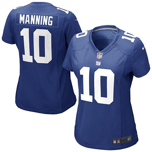 sale retailer 54a97 ce2b5 Girls Youth New York Giants Eli Manning Nike Royal Blue Game Jersey