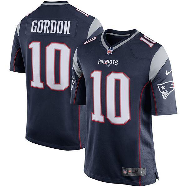 Men's Nike Josh Gordon Navy New England Patriots Player Game Jersey