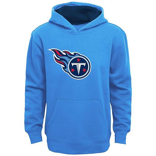the latest 53db0 c49da Youth Light Blue Tennessee Titans Fan Gear Prime Pullover Hoodie