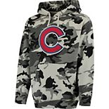 Men's Stitches Black/Camo Chicago Cubs Pullover Hoodie