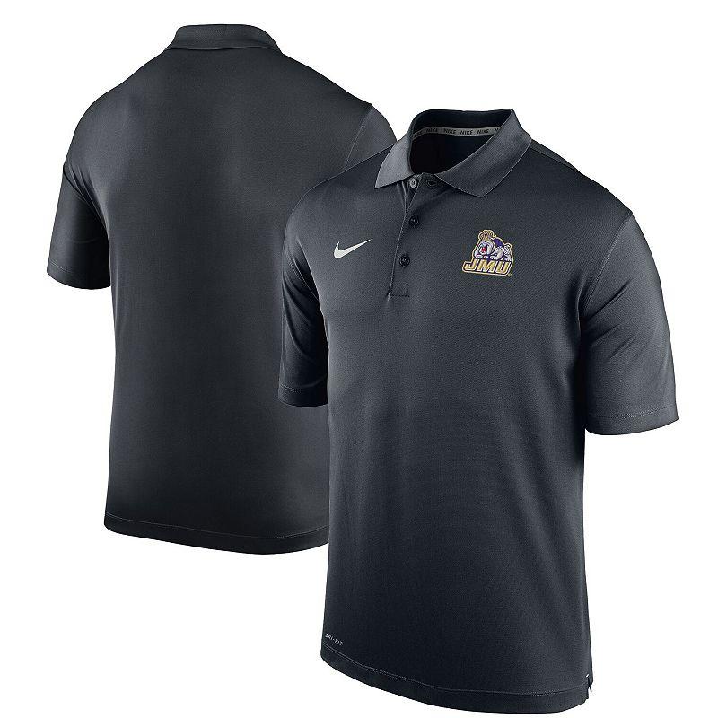 Men's Nike Black James Madison Dukes Varsity Performance Polo. Size: Small