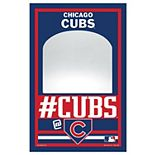 """WinCraft Chicago Cubs 11"""" x 17"""" Mirror Wood Sign"""