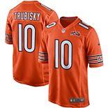 Men's Nike Mitchell Trubisky Orange Chicago Bears 100th Season Game Jersey