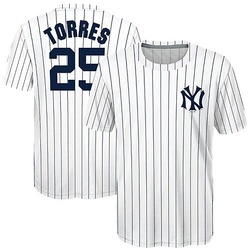 watch 548f4 497f7 Youth Majestic Gleyber Torres White New York Yankees Sublimated Cooperstown  Collection Jersey T-Shirt