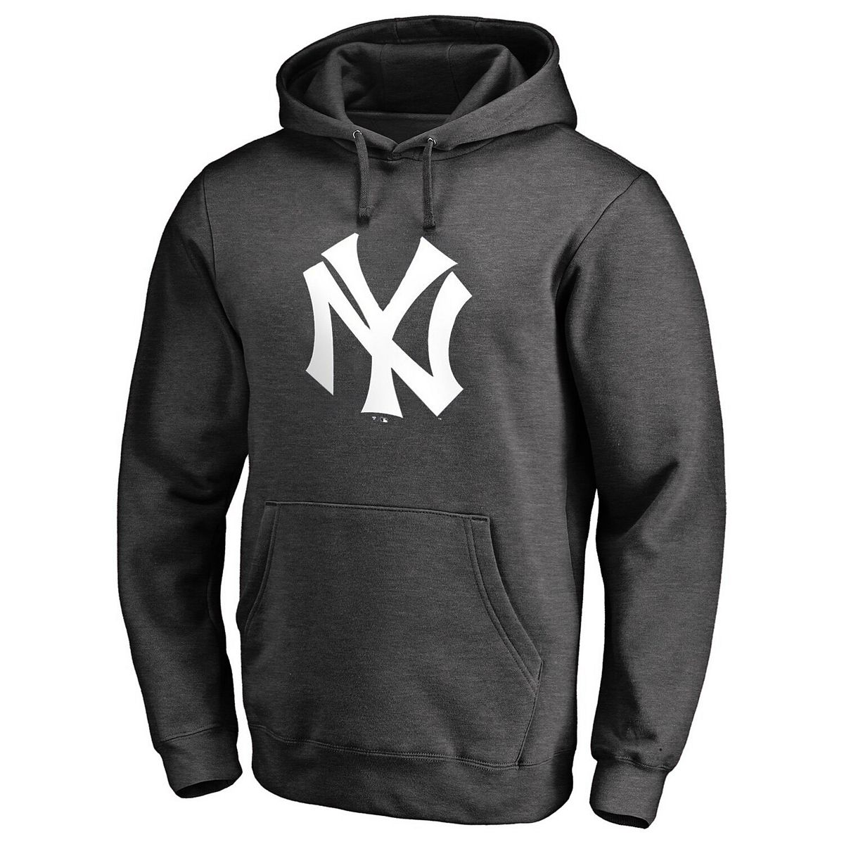 New York Yankees Fanatics Branded Cooperstown Collection Huntington Pullover Hoodie - Gray UCGgW