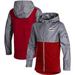 Youth Under Armour Red Wisconsin Badgers Woven Layer Full-Zip Jacket